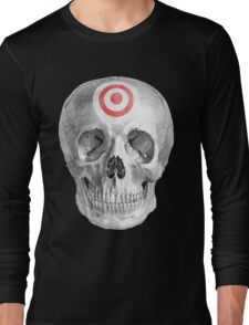 Albinus Skull 07 - Focused Mind - Black Background Long Sleeve T-Shirt