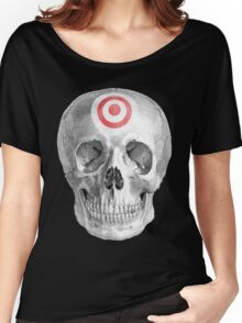Albinus Skull 07 - Focused Mind - Black Background Women's Relaxed Fit T-Shirt
