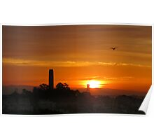 Coit Tower Dawn Poster