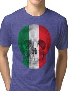 Albinus Skull 08 - Cappuccino Fairy Tale - Black Background Tri-blend T-Shirt