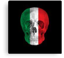 Albinus Skull 08 - Cappuccino Fairy Tale - Black Background Canvas Print