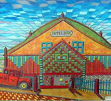 377 - RHOS PAVILION - DAVE EDWARDS - COLOURED PENCILS - 2013 by BLYTHART