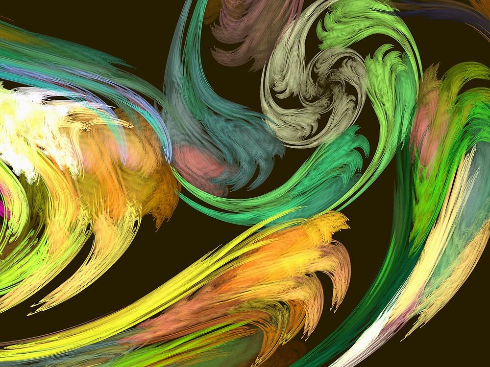 Fractal - Paisley Closeup by Susan Savad