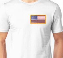 American ARMY, Flag, SMALL, Embroidered, Stars and Stripes, USA, United States, America, Military Badge Unisex T-Shirt