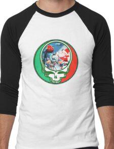 Have a holly jolly grateful Christmas.  Men's Baseball ¾ T-Shirt
