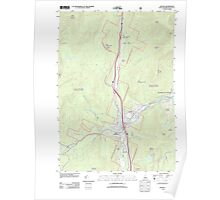 USGS TOPO Map New Hampshire NH Lincoln 20120508 TM Poster