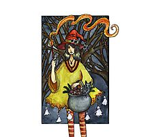 Flaming witch Photographic Print