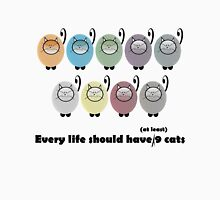 Every Life Should Have at least 9 Cats Womens Fitted T-Shirt