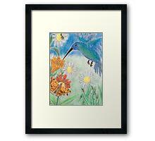 Hummingbird Garden Framed Print