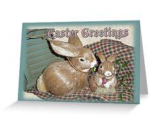 Easter Greetings - Bunnies Greeting Card