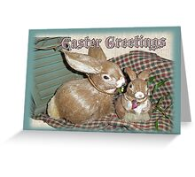 Easter Greetings - Bunnies Greeting Card