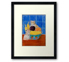 Hamsters In Fruit Bowl Framed Print