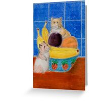 Hamsters In Fruit Bowl Greeting Card