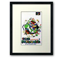 Super Mario World Nintendo Super Famicom Box Art Framed Print