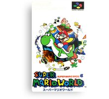 Super Mario World Nintendo Super Famicom Box Art Metal Print