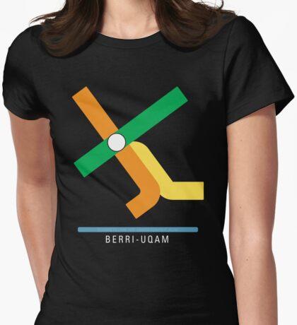 Station Berri-UQAM Womens Fitted T-Shirt