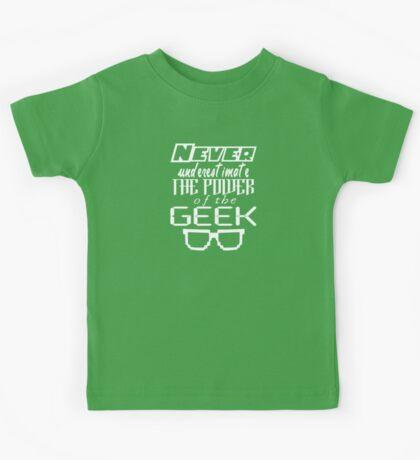 Never Underestimate the Geek Kids Tee
