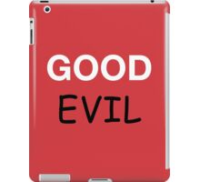Good and Evil iPad Case/Skin