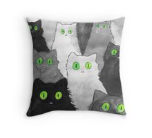 50 Shades of Cats Throw Pillow