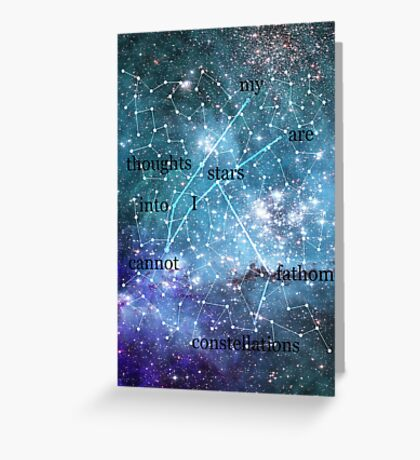 Constellations Greeting Card