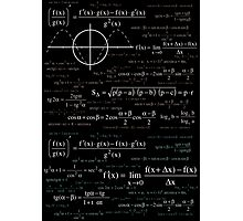 Math formula Photographic Print