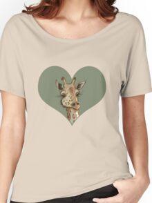 Lovely Lashes Giraffe Women's Relaxed Fit T-Shirt