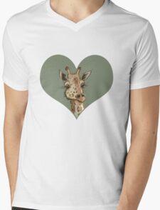 Lovely Lashes Giraffe Mens V-Neck T-Shirt