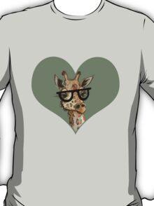 Ironic Lovely Lashes Giraffe T-Shirt