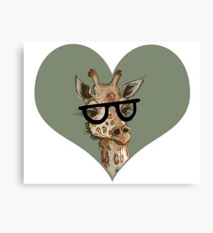 Ironic Lovely Lashes Giraffe Canvas Print