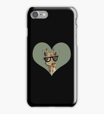 Ironic Lovely Lashes Giraffe iPhone Case/Skin