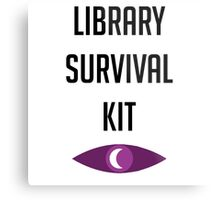 """Welcome To Night Vale """"Library Survival Kit"""" Metal Print"""