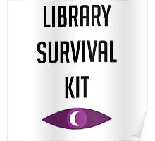 """Welcome To Night Vale """"Library Survival Kit"""" Poster"""