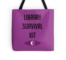"Welcome To Night Vale ""Library Survival Kit"" Tote Bag"