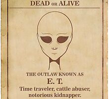Alien Wanted Poster by William Fehr