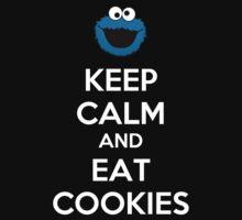 Keep Calm And Eat Cookies Baby Tee
