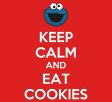 Keep Calm And Eat Cookies Kids Clothes