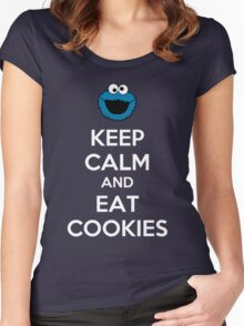 Keep Calm And Eat Cookies Women's Fitted Scoop T-Shirt