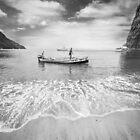 Caribbean fishermen Sugar Beach St Lucia by Heather Buckley