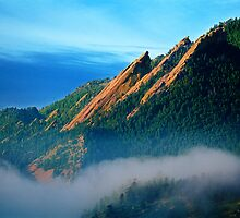 Flatirons And Fog by nikongreg