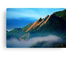 Flatirons And Fog Canvas Print