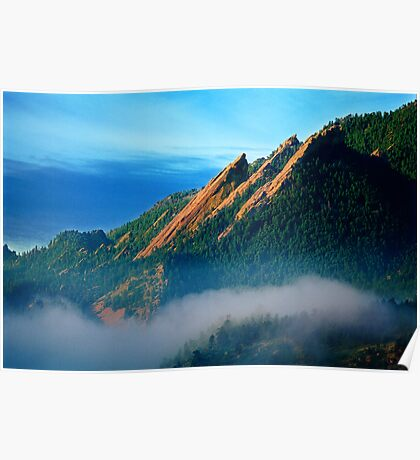 Flatirons And Fog Poster