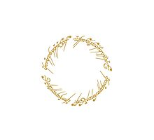 Lord of the Rings - The One Ring (Gold on White) by blackstarshop