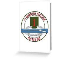 1st Infantry CIB Big Red One Greeting Card