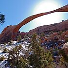 Landscape Arch Eclipse by Stephen Beattie