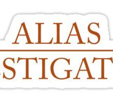 Alias - Investigations Sticker