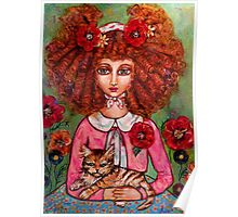 THE RED HEAD CALLIES CAT Poster