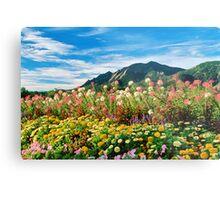 Flowers and Flatirons Metal Print
