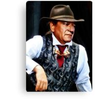 John Wayne in a silk waistcoat Canvas Print