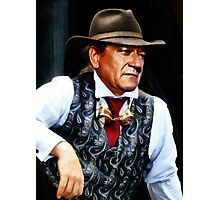 John Wayne in a silk waistcoat Photographic Print