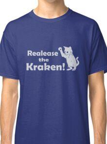 Release The Kraken Kitten funny nerd geek geeky Classic T-Shirt
